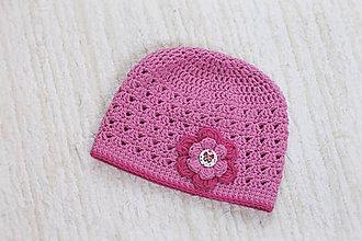 Detské čiapky - háčkovaná čiapka - 7805950_