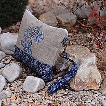 Kabelky - Modrá clutch - 7805164_