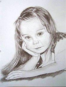 Kresby - zamyslená Vivka :-) - portrét A3 - 7805129_