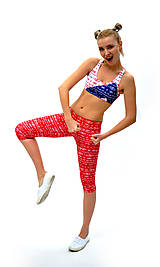 Nohavice - Trojštvrťové legíny s jóga pásom RIO LOH - 7805103_