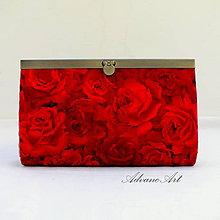 Peňaženky - Červené rúže v ráme - 7802695_