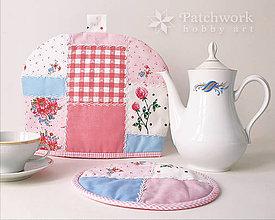 Úžitkový textil - Čiapka na konvicu s chňapkou - ružová - 7803660_
