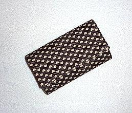 Peňaženky - Peňaženka - Hnedé srdiečka - 17 - 7802343_