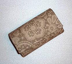 Peňaženky - Peňaženka - Hnedý kvet - 17 - 7802349_
