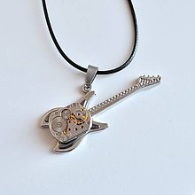 Šperky - KYTARA, steampunkový náhrdelník, prívesok - 7810990_
