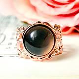 Romantic Grey Agate Rose Gold Ring / Romantický prsteň so šedým achátom v prevedení ružové zlato