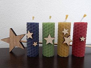 Darčeky pre svadobčanov - Sviečky z medzistienok - hviezdičky - 7808016_