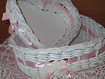 - Košíky - Sada srdiečok (21 x 24 x 8 cm) - 7808898_