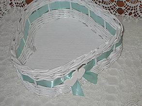 Košíky - Košik - Srdiečko mint - 7809179_