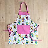 Iné oblečenie - zástera pre malé kuchárky (zástera na 3 - 5 rokov) - 7808478_