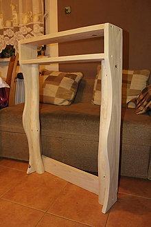 Nábytok - Drevená polička do kúpeľne - 7808178_