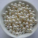 Voskované perly 4mm-60ks (sv.krémová)