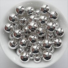 Korálky - GL METALIC plast 8mm-20ks - 7808430_