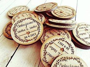 Darčeky pre svadobčanov - Svadobné magnetky - 7807371_