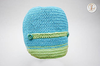 Detské čiapky - Háčkovaná čiapočka tyrkysová - 7808935_