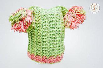 Detské čiapky - Háčkovaná čiapočka Pipi - 7808960_