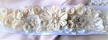 Opasky - Kvetinový opasok pre nevestu - 7808700_