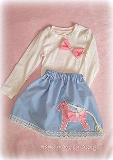 Detské oblečenie - set s koníkom 98 ( suknička +tričko ) - 7809593_