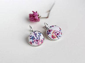 Náušnice - Dámske romantické náušnice s francúzskym zapínaním - 7808777_