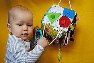 Hračky - Veľká montessori kocka s menom - 7808050_