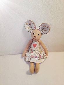 Hračky - Myška Elizabeth so šatami - 7807990_