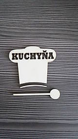 Tabuľky - Piktogram Kuchyňa čiapka + varecha 1 - 7810627_