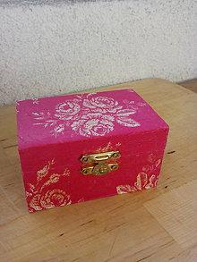 Krabičky - Drevená krabička - 7808916_