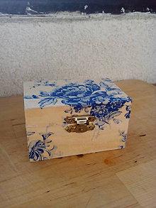 Krabičky - Drevená krabička - 7808943_