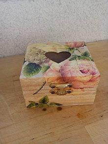 Krabičky - Drevená krabička - 7808975_
