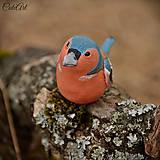Dekorácie - Pinka obyčajná - figúrka na tortu podľa fotografie - 7809474_