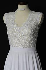 Šaty - Svadobné šaty s transparentným živôtikom - 7809058_