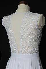 Šaty - Svadobné šaty s transparentným živôtikom - 7809059_