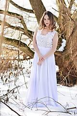Šaty - Svadobné šaty s transparentným živôtikom - 7809070_