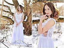 Šaty - Svadobné šaty s transparentným živôtikom - 7809072_