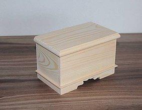 Polotovary - retro masívna krabička - 7808946_