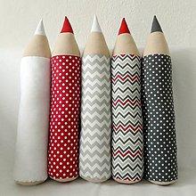 Úžitkový textil - Ceruzky šedo-bordové mixované - 7809899_