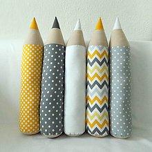 Úžitkový textil - Ceruzky šedo-žlté mixované - 7809949_