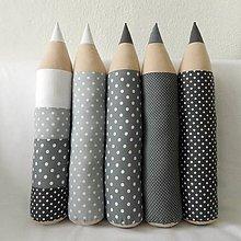 Úžitkový textil - Ceruzky šedé bodkované - 7810033_