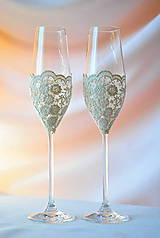 Nádoby - Svadobné poháre - 7807620_