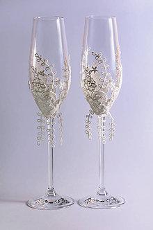 Nádoby - Svadobné poháre Fantázia - 7807608_