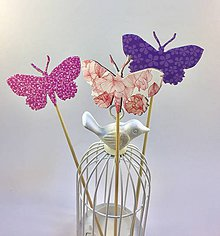 Dekorácie - Zápich motýlik - 7809989_