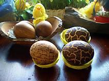 Drobnosti - Veľkonočne drevené vajíčka, sady s kraslicami - 7811080_