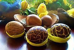 Drobnosti - Veľkonočne drevené vajíčka, sady s kraslicami - 7811169_