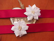 Pierka - Č. 27 Náramky s kvietkom a dreveným srdiečkom - 7811172_