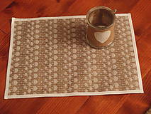 Úžitkový textil - Jutové prestieranie so srdiečkami - 7811210_
