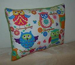 Úžitkový textil - vankúš sova - 7810818_