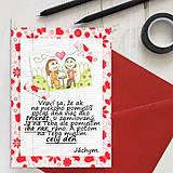 Grafika - Na kávičke (valentínka s textom) - 7809375_