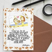 Grafika - Na kávičke (valentínka s textom)  (7) - 7810224_