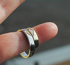Prstene - Dvojfarebné obrúčky \