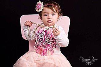Detské oblečenie - 1.narodeniny s mackom - mama a dcéra - 7816003_